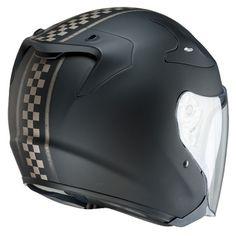 Casco moto nero opaco in carbonio HJC RPHA JET Gantz / MC-5F