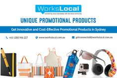 Searching for the Good Quality Promotional Products in Sydney? Then Workslocal is the best selection for you. We will provide you the best Promotional Products at affordable prices. The expert marketing team of Workslocal provide various local area marketing services which includes promotional products, thousands of brands, video marketing, social media marketing, and more. Contact them today for free business quote.
