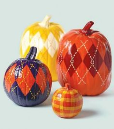Argyle Pumpkins. Not a fan of the glossy shine, but that's easy to leave out!