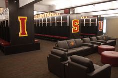 Locker Room in the Bergstrom Football Complex - Iowa State University Athletics Official Web Site - www.CYCLONES.com - The home of Iowa State Cyclone Sports