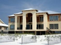 Gulf Shores house rental - Beach side View of Grandview