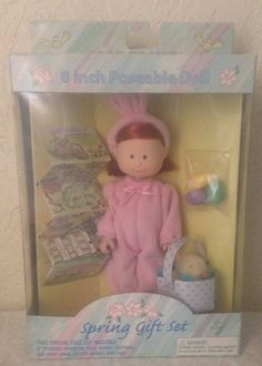 """Madeline 8"""" Poseable Doll Spring Gift Set By Eden From 1999 New In Box!"""