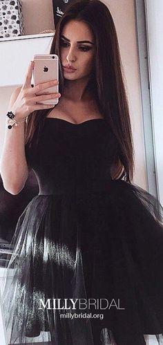 Princess Formal Dresses Short, Black Prom Dresses Elegant, Tulle Little Black Dresses Cute, Sweetheart Graduation Dresses Unique Modest Formal Dresses, Affordable Prom Dresses, Formal Dresses For Teens, Dresses Short, Prom Dresses Online, Cheap Prom Dresses, Party Dresses, Vintage Homecoming Dresses, Cute Homecoming Dresses