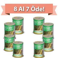 ECOPET Sığır ve Hindi Etli Köpek Konservesi 405 Gr (8 AL 7 ÖDE)