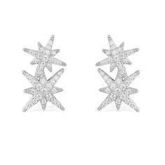 Silver Earrings   METEORITES 2   APM Monaco