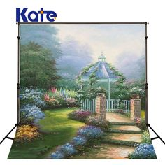 Find More Background Information about KATE 200X300CM (10X20FT)Wedding Photography Professional Backdrops Photo Studio Props Garden Pavilion Stone Wildflowers Backdrop,High Quality professional backdrops,China studio props Suppliers, Cheap photo studio props from kate Official Store on Aliexpress.com