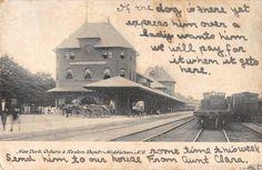 Middletown New York New York Ontario & Western Depot Antique Postcard (J21563)