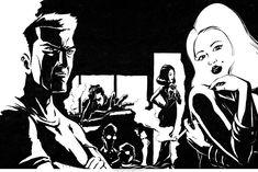 Noir ink illustration for Time Out magazine illustration. Magazine Illustration, Pencil Illustration, Time Out Magazine, Ink Illustrations, Drawing Techniques, Comic Artist, Illustrators, Contrast, Novels