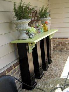 4 Reclaimed Columns Porch Buffet - This would be great on my deck or back patio!