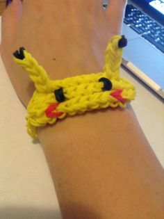 This is one of my favorite Bracelets the Pikachu Bracelet very cute but kinda hard for beginners