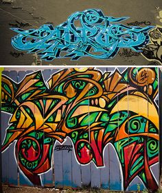 It's impossible to give names to all of the lettering styles graffiti artists use. But there are a few well-known alphabets that are seen over and over. Graffiti Piece, Graffiti Murals, Graffiti Styles, Graffiti Designs, Graffiti Artists, Graffiti Writing, Graffiti Lettering, Graffiti Alphabet, Wall Designs Images