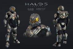 Halo 5 Multiplayer Armor Raijin, Airborn Studios on ArtStation at… Character Concept, Concept Art, Halo Cosplay, Halo Armor, Halo Spartan, Halo 5, Halo Game, Airsoft Mask, Future Soldier