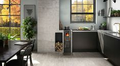 Installing a wood stove at home is becoming more common. A wood stove is an easy way to feel more cozy! JD 320 is a modern cooker that fits all homes. Cooking Stove, Old Kitchen, Kitchenette, Beautiful Kitchens, Wood Burning, My Dream Home, Rum, Sweet Home, New Homes