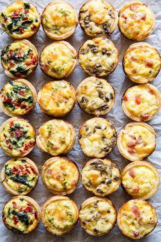 Skip the store-bought and make your own Mini Quiche! Try these 4 tasty combos or choose your own adventure. Make ahead/freezer friendly and great for kids! I remember trying Mini Quiche appetizers as Healthy Chicken Recipes, Cooking Recipes, Cooking Ideas, Freezer Cooking, Recipe Chicken, Tart Recipes, Sweets Recipes, Chicken Salad, Lunch Recipes