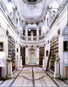 Via cote de texas blog. Duchess Anna Amalia Library in Weimar was built in 1562 as Anna's house and was converted into the library in 1761.