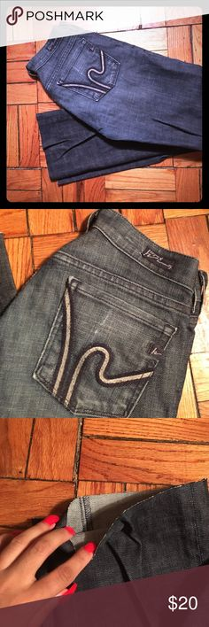"""CITIZENS OF HUMANITY Jeans Great COH jeans. Great to pair with any footwear. Cut to make """"cropped"""", as seen in photos. Signature citizens of humanity logo on pockets. Length is approx 33 inches. Citizens of Humanity Jeans Boot Cut"""