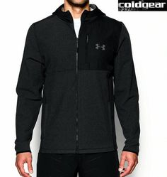 Under Armour ColdGear Infrared Jacket 1//2 Zip Black Camo Winter Fitness Sport