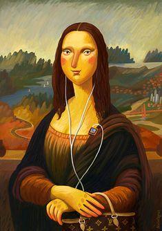 """Versão """"criativa"""" de uma pintura clássica... Mais possibilidades em: http://www.pinterest.com/patytann/monalisa/"""