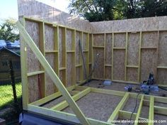 Now You Can Build ANY Shed In A Weekend Even If You've Zero Woodworking Experience! Start building amazing sheds the easier way with a collection of shed plans! Woodworking Projects Diy, Woodworking Plans, Steel Framing, Free Shed, Shed Construction, Construction Business, Construction Birthday, Shed Kits, Diy Shed Plans