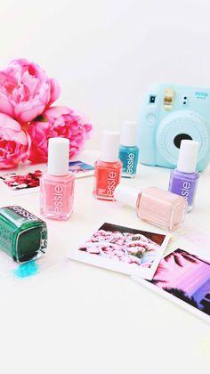 Essie nail polishes, composition, prop ideas