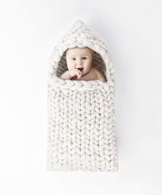 Baby Sleep Bag Knit Merino Wool 21 microns. Newborn Case Knitted Wool Cocoon…