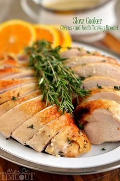 This Slow Cooker Citrus and Herb Turkey Breast is, hands down, the most amazing turkey you will ever eat! Juicy, tender, succulent and bursting with flavor!