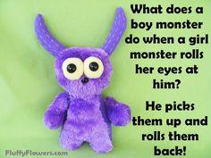 cute & clean monster kids joke for children :) Lame Jokes, Work Jokes, Funny Jokes For Kids, Kid Memes, Daily Jokes, Daily Funny, Kid Friendly Jokes, Thanksgiving Jokes, Jokes And Riddles