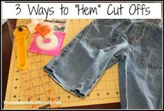 """3 Ways to """"Hem"""" Cutoffs and 10 Things to Do with Old Jeans"""