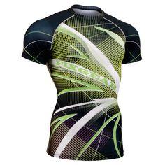 4e5c55171b4c Men MMA GYM Compression Shirts Rashguard Fitness Short Sleeves Base Layer  Skin Tight Weight Lifting Running Training T Shirts