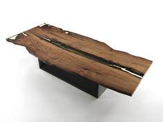 Mesa de madeira de Kauri CUBE by Riva 1920 design Maurizio Riva, Davide Riva
