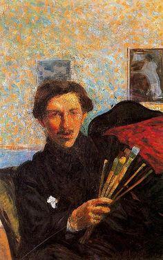Boccioni, Umberto (1882-1916) - 1905-06 Self-Portrait (Pinacoteca di Brera, Milan, Italy)  #TuscanyAgriturismoGiratola