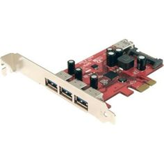 4x USB 3.0 PCIe Card with SATA