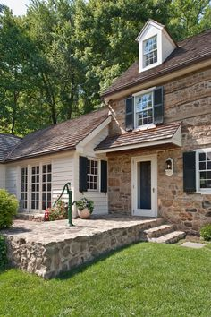 Love the addition on old stone house!!