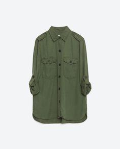 blusão despojado zara
