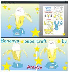 Bananya (Bananya) papercraft (free download) by Antyyy.deviantart.com on @DeviantArt