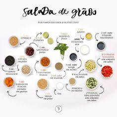 Salada de Grãos e Frutas Secas com Coalhada Seca, cuja receita compartilharemos com vocês hoje.Para quem não se lembra, o prato fez muito bonito no cardápio