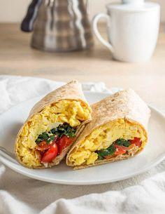 Spinach Feta Breakfast Wraps