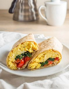 Recipe: Freezer-Friendly Spinach Feta Breakfast Wraps — Breakfast Recipes from The Kitchn | The Kitchn
