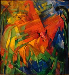 Franz Marc (German, 1880-1916), Animals in a Landscape, 1914. Oil on canvas, 110.17 cm x 99.69 cm.