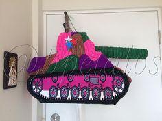 Fiesta Temática tanque Militar para una princesa de 9años #piñatas #fiestasTematicas #fiestasinfantiles