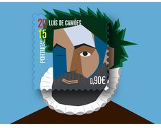Selos temáticos: Escritores portugueses on Behance Portugal, Celebrity Caricatures, Postage Stamps, Luigi, History, Behance, Fictional Characters, Classic Books, Seals
