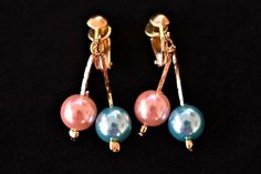 VTG Colorful Faux Pearl Dangle Drop Earrings Clip On Dainty Minimalist Jewelry #Unbranded #DropDangle Cute Teen Outfits, Outfits For Teens, High School Dance, Earring Trends, Pearl Earrings, Drop Earrings, Minimalist Jewelry, Clip, Pastel