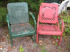 Vintage Metal Chairs And Retro Patio Tables - Vintage Gliders