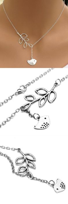 Silver branch tree leaves bird pendant necklace for women glass necklace pendants how to make #necklaces #small #pendants #necklaces #with #big #pendants #necklaces #with #key #pendants #sterling #silver #necklaces #pendants #engraved