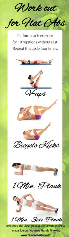 Try this work out and see the results! As we all know, the abs are one of the most troubled areas for both men and women so here is a combination of quick high intensity exercise combined with strength building for the abdominal muscles.