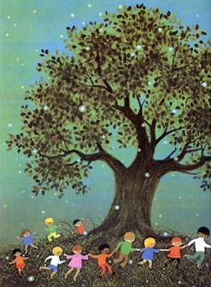 "Gyo Fujikawa - illustration (""A Child's Book of Poems"", Sterling Juvenile, 2007)"