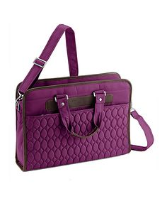 Look at this Plum Purple Avion Work Laptop Bag on #zulily today!