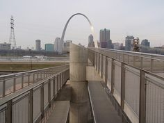 St. Louis Arch from the East St. Louis overlook