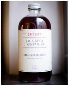 Artisanal Cocktail Mixer | Jack Rudy Cocktail Co. small batch grenadine.