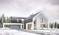WINTER HOUSEarchitecture by: a-conceptinteriors: mitotulocation: Poland